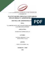 Monografía Marketing II Carlos Olivera