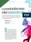 La Innovación Como Valor y Factor de Exito