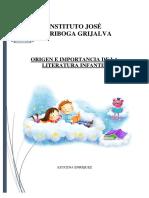 Origen de La Literatura Infantil