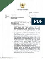 Surat Mendagri Tentang Persetujuan Perda PD