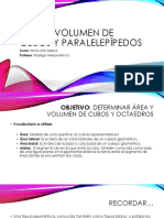 Área y Volumen de Cubos y Paralelepípedos