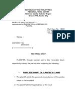 Pre Trial Brief
