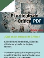 El artículo de Crítica