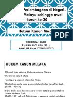 Minggu 1d Hukum Kanun Melaka (Angeline).pptx