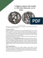 Calendario Religioso Romano III