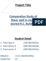 Comparitive Study of Shear Wall