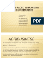 Problems Faced in Branding Indian Agri-commodities