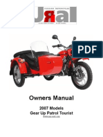 2007 Owners Manual Tourist Patrol GearUp