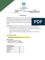 Management Information System Session Plan 14
