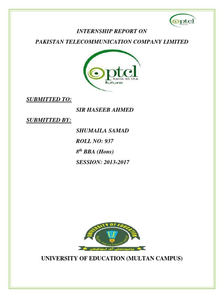 PTCL Internship Report 2017 | Dividend | Equity (Finance)