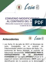 Presentación Convenio Modificatorio FIFOSEC