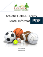 CRPD Athletic Field Facility Rental Information