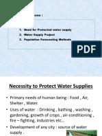 Water Supply Scheme- Introduction