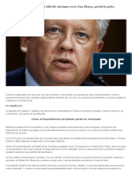 De Cómo Thomas Shannon, El Alfil Del Chavismo en La Casa Blanca, Perdió La Pelea