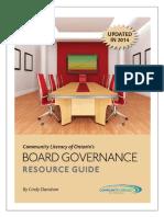Board Governance Manual June 2014