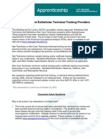 Approved SATCC Esthetician Technical Training Providers[1]