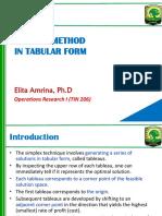 5 Simplex Method in Table Format
