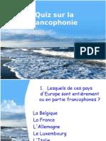 0 Quiz Sur La Francophonie