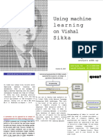 Quant Broking- Using Machine Learning on Vishal Sikka