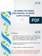 New Forms for Taking Over Process of Water Supply System by Tuan Haji Sanusi Sulieman