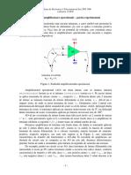 Aplicatii Cu Amplificatoare Operationale – Partea Experimentala