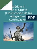 Derecho Civil IV (Obligaciones II Parte) Módulo II