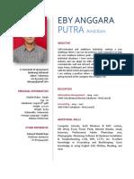 Curriculum Vitae - Eby Anggara Putra