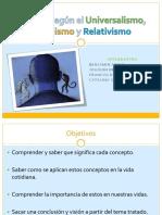 C5 - Universalismo, Pluralismo, Relativismo