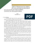Trend Dan Terapisocial Skill Training Dalam Meningkatkan Keteramoilan Pada Pasien Gangguan Isolasi Sosial