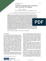Geometry and Formation of Gypsum Veins in Mudstones