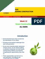 Week 12 - Green Construction
