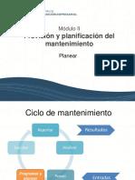 Módulo II Previsión y Planificación Del Mantenimiento Planificar (1)