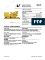 Cat 3408c Genset Spec Sheet