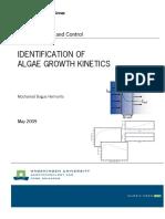 Identiication of Algae Growth Kinetics
