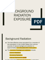 Background Radiation Exposure