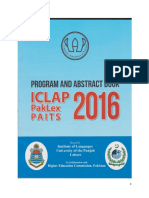 Book Abstract of ICLAP 2016