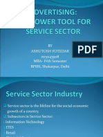 Advertising-The Power Tool for Service Sector