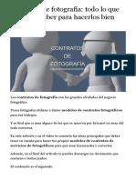 Contratos de fotografía