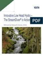 Innovative Low Head Hydro