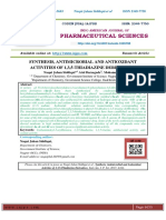 SYNTHESIS, ANTIMICROBIAL AND ANTIOXIDANT ACTIVITIES OF 1,3,5-THIADIAZINE DERIVATIVES