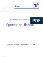 JHF-Model Precision Filter Operational Manual