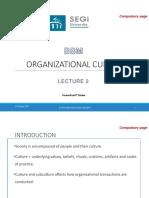 Lecture 2 - Organizational Culture