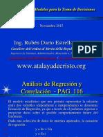Presentaicón de Modelos Estadisticos Inferenciales - Regresion - Estimacion - Tamaño 2015