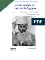 ACNUR_reconocimiento Del Estatuto de Refugiado