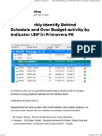 How to Quickly Identify Behind Schedule and Over Budget Activity by Indicator UDF in Primavera P6 – Do Duy Khuong Blog
