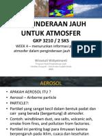 Penginderaan Jauh Untuk Atmosfer S1 Week 4 Parameter Atmosfer From RS