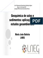 Geoquimica Solos Sedimentos MJBatista Apres