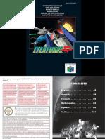 Nintendo64 Lylat Wars Manual (English)