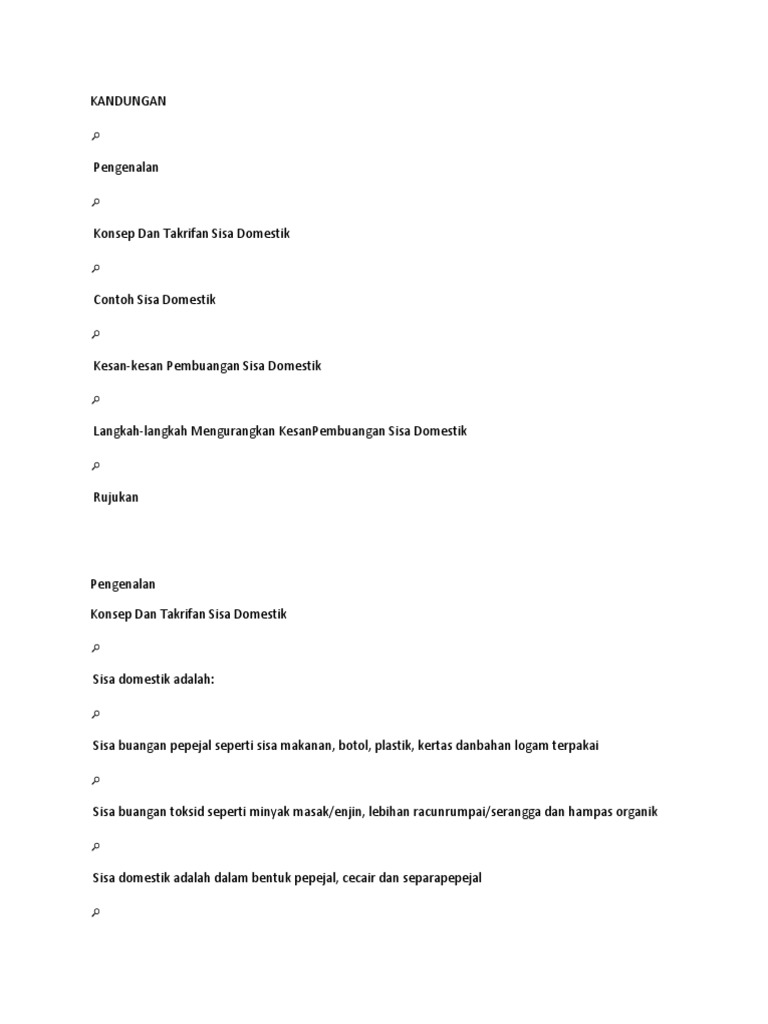 Sisa Domestik Form 1
