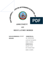 Regulatory Body Shalu PDF